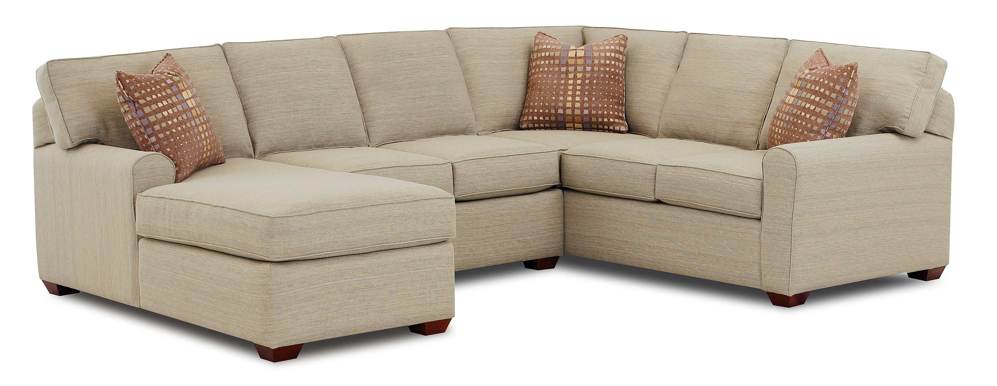 Hybrid Sectional Sofa with Left Facing Chaise Lounge by Klaussner