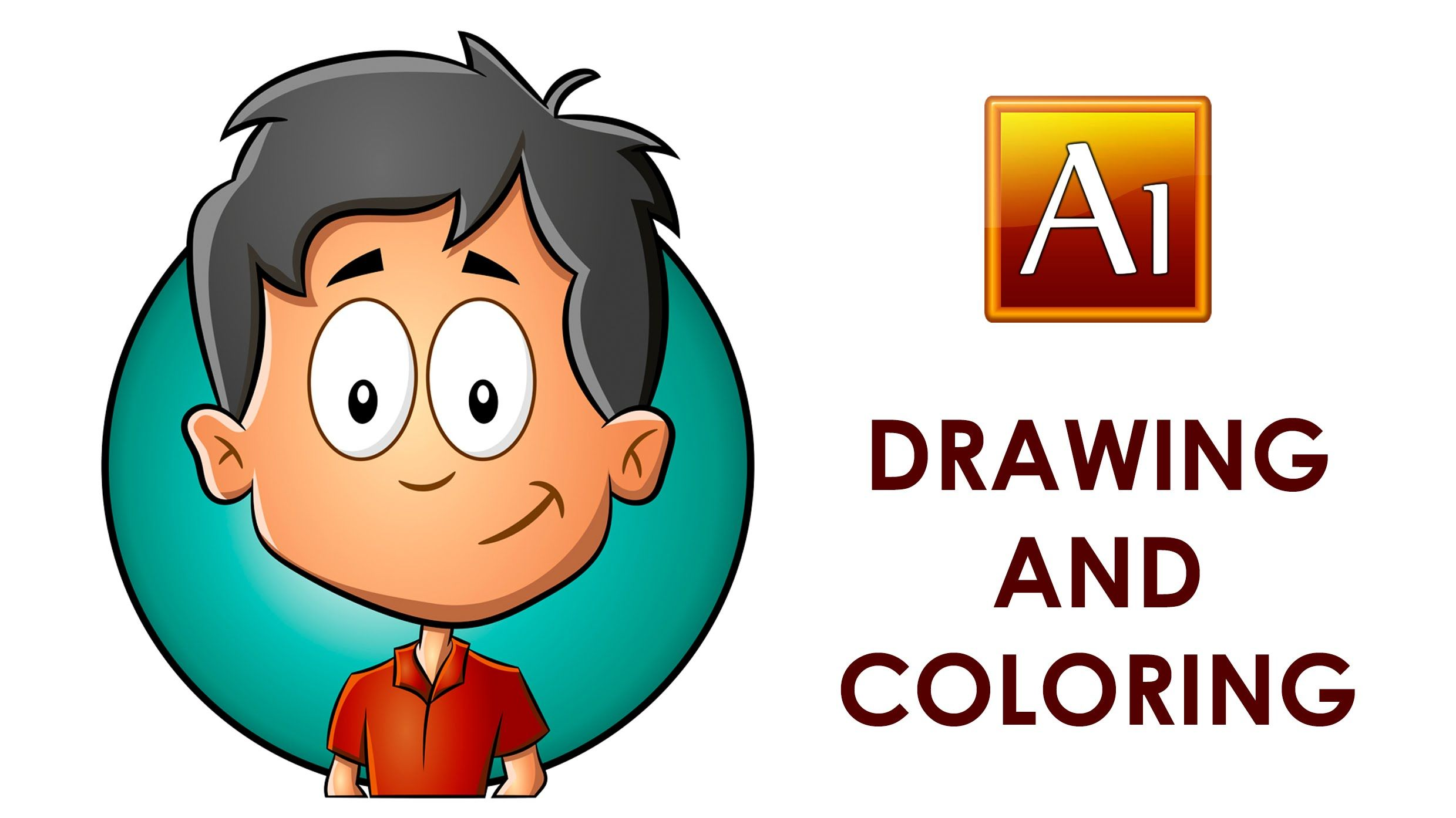 Adobe Illustrator Drawing And Coloring A Cartoon Child Adobe Illustrator Draw Childrens Illustrations Design Quotes Art