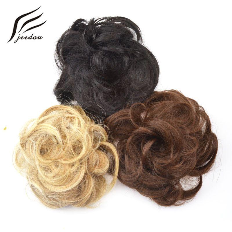 Jeedou Synthetic Hair Chignon Donut Gary Brown Color 30g Hair Bun