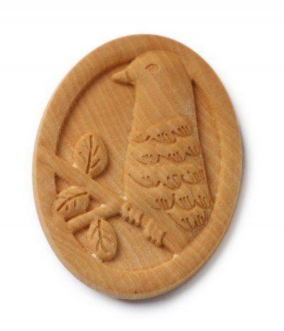 wooden brooch