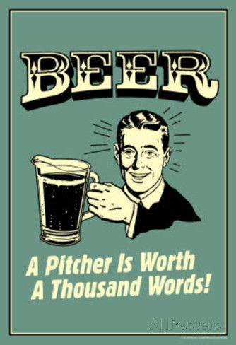 Beer Pitcher Worth A Thousand Words Funny Retro Poster Masterprint At AllPosters