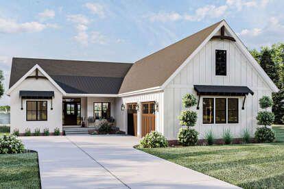 Modern Farmhouse Plan: 1,945 Square Feet, 3-4 Bedrooms, 2 Bathrooms - 009-00288