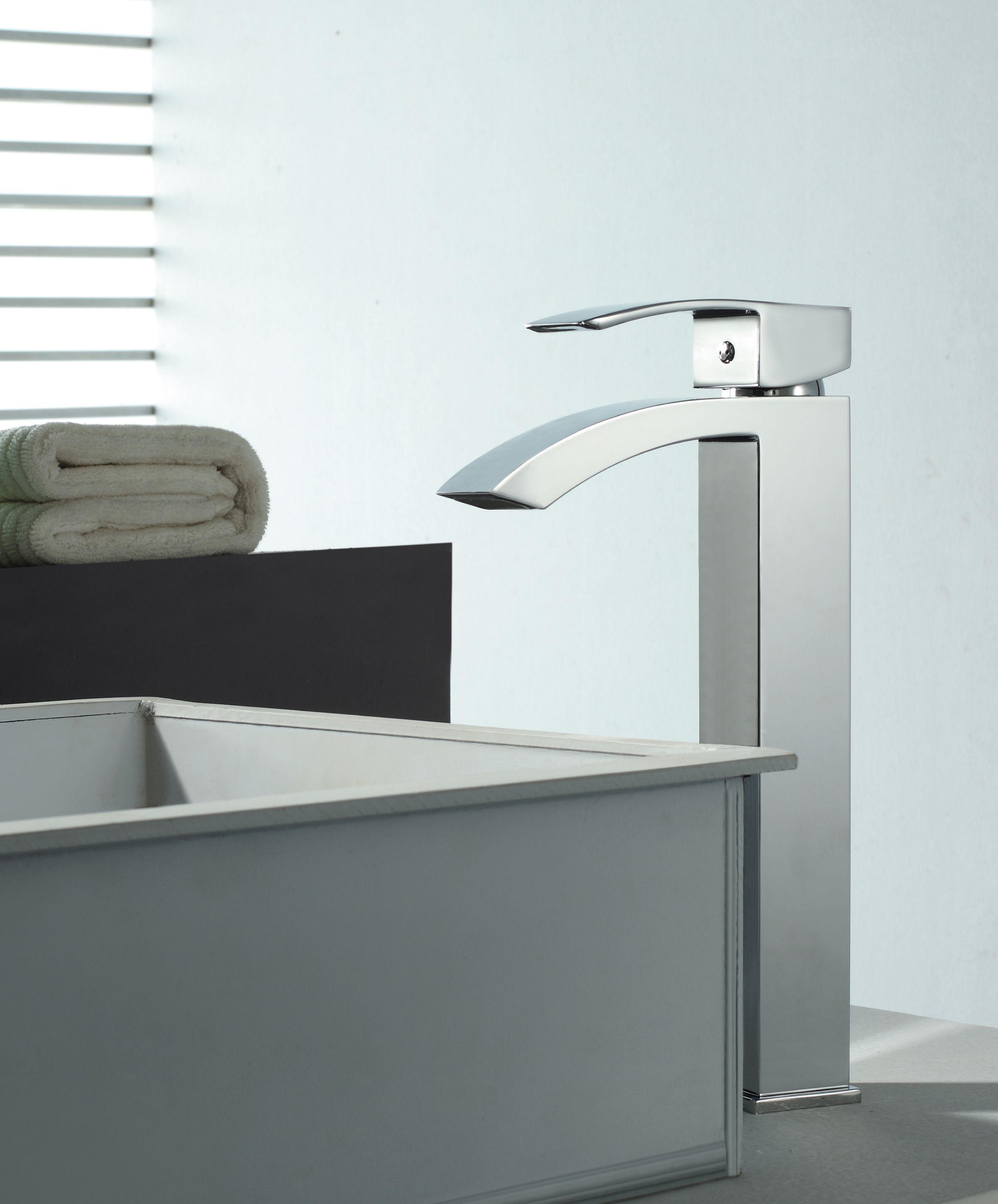Serie Marina grifo alto de lavabo de Clever Platinum   grifos ...