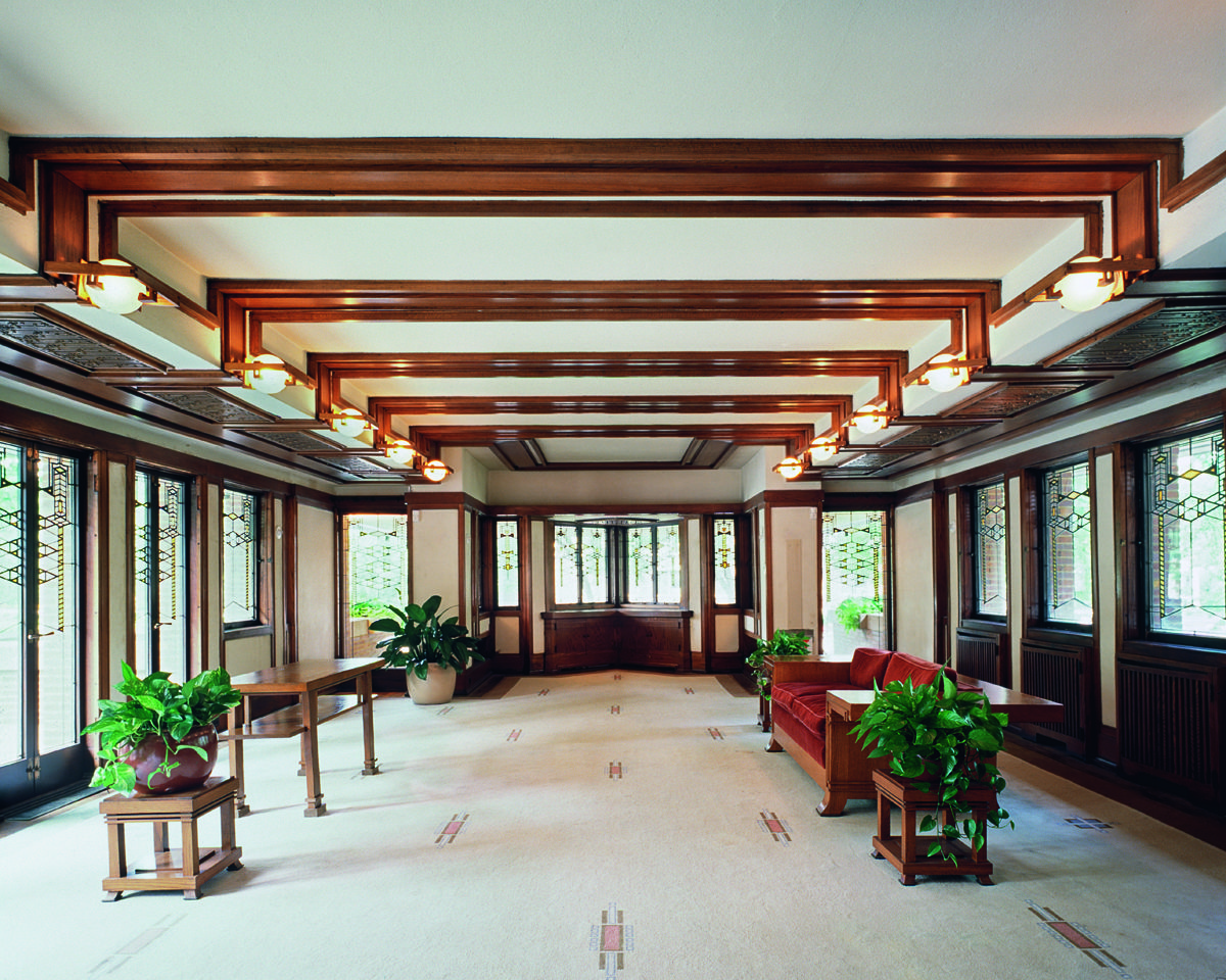 Frederick c robie house prairie style frank lloyd wright hyde park chicago il 1909