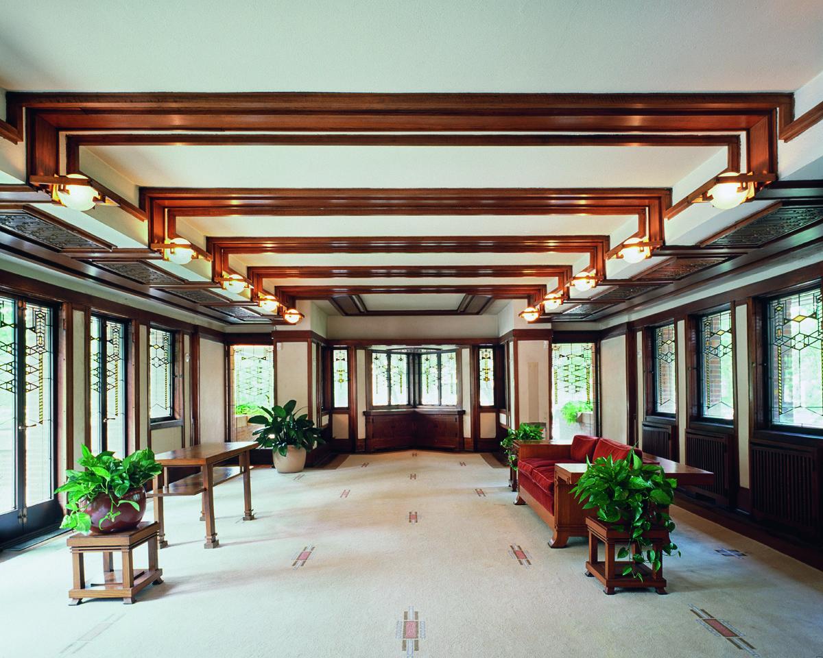Frederick C Robie House Prairie Style Frank Lloyd Wright Hyde