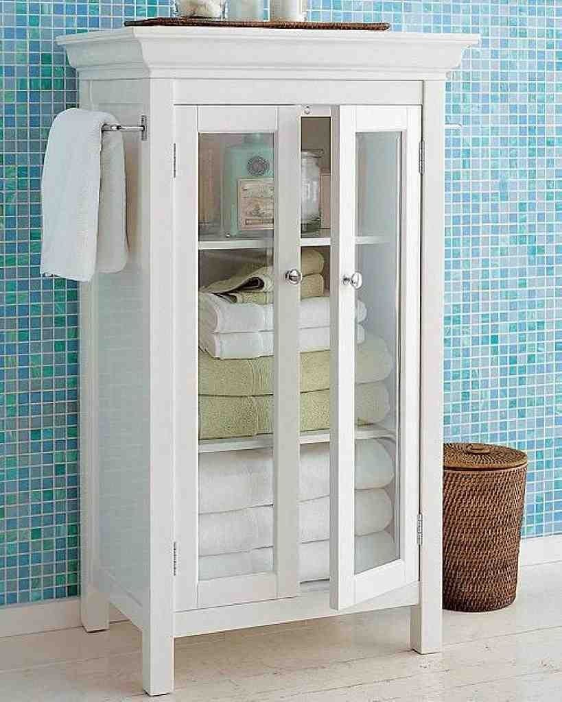 Free Standing Linen Cabinet | bathroom deco in 2019 ...