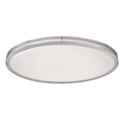 Hampton Bay 32 In Brushed Nickel LED Oval Flush Mount DC032LED At The Home