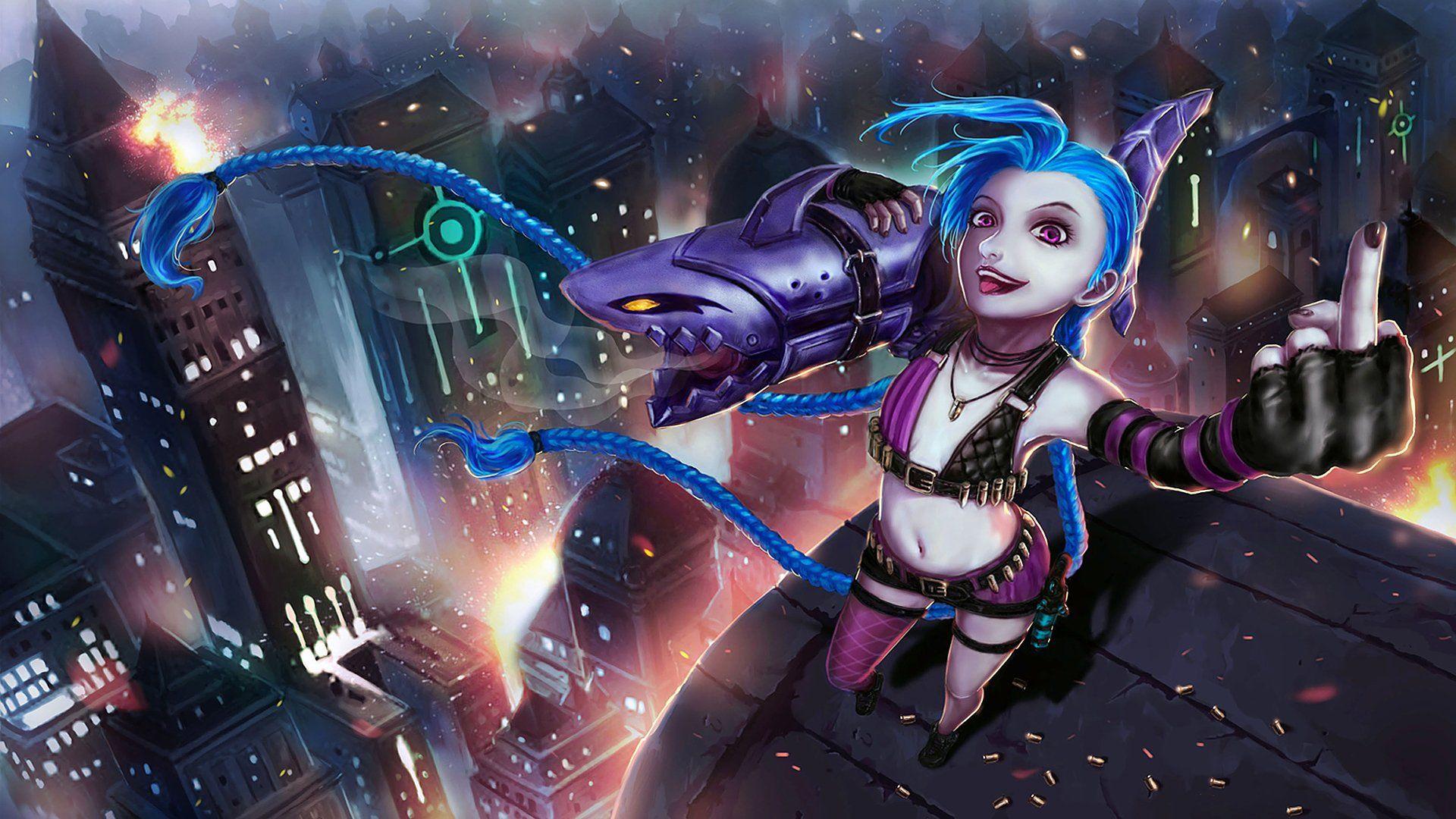 Hd Jinx Backgrounds WallpaperHD.wiki League of legends
