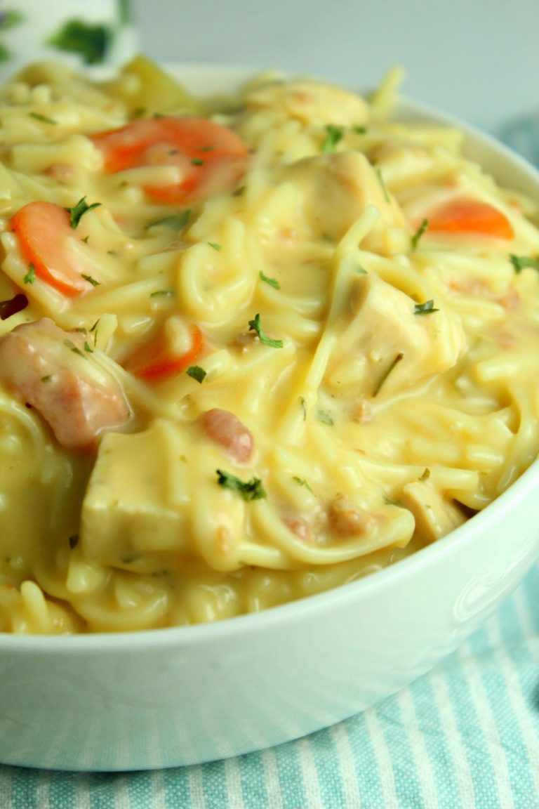 Crack Chicken Noodle Soup #chickennoodlesoup