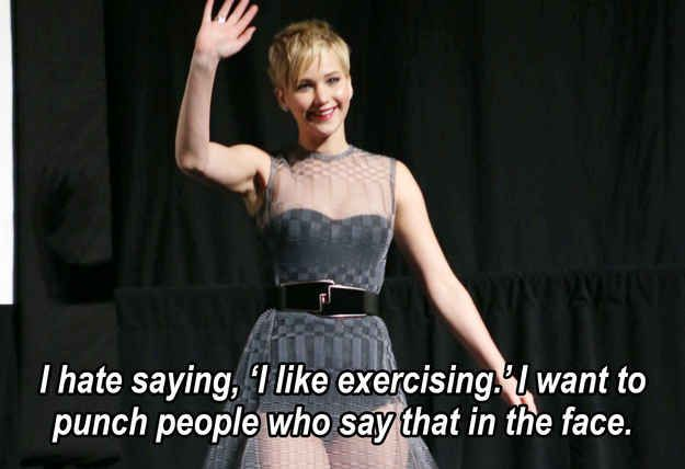 When she actually made you almost break your neck because you were nodding your head in agreement so hard with this statement: | 51 Times In 2013 Jennifer Lawrence Proved She Was Master Of The Universe