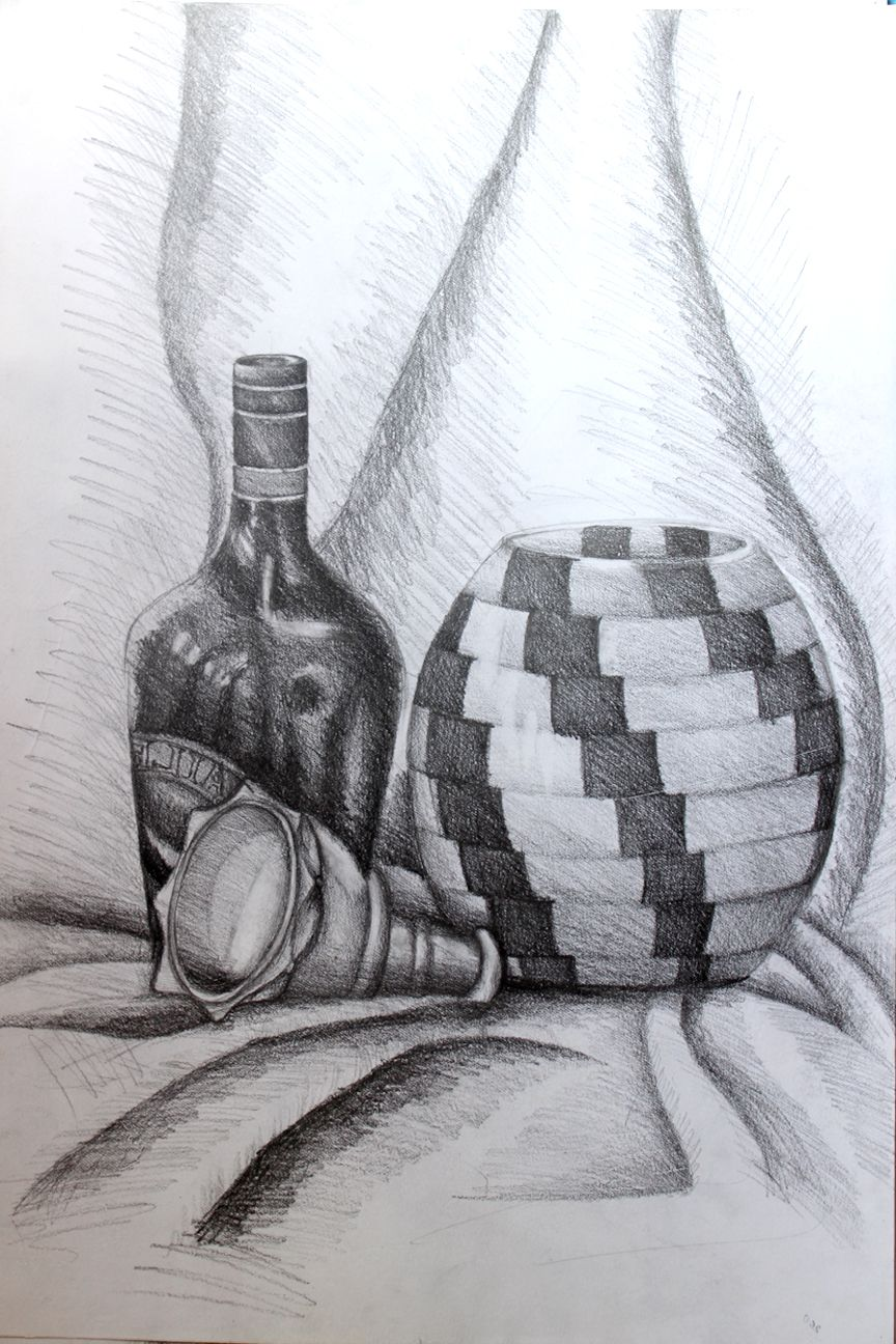 Still life painting with pencil ✏ shade