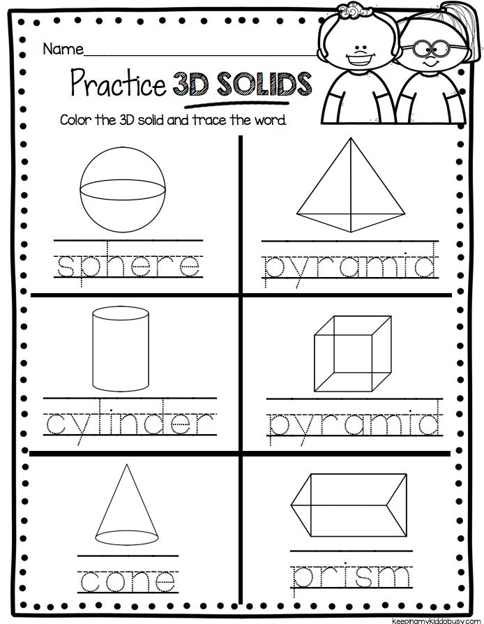 Kindergarten Geometry Unit Freebies Kindergarten Math And School