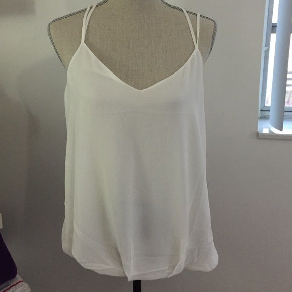 White loose top white loose top with a back design Tops Blouses