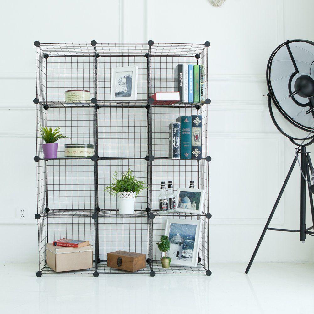 Newdora Wire Storage Cubes, Wire Grids Cube Closet Organizer Shelf ...