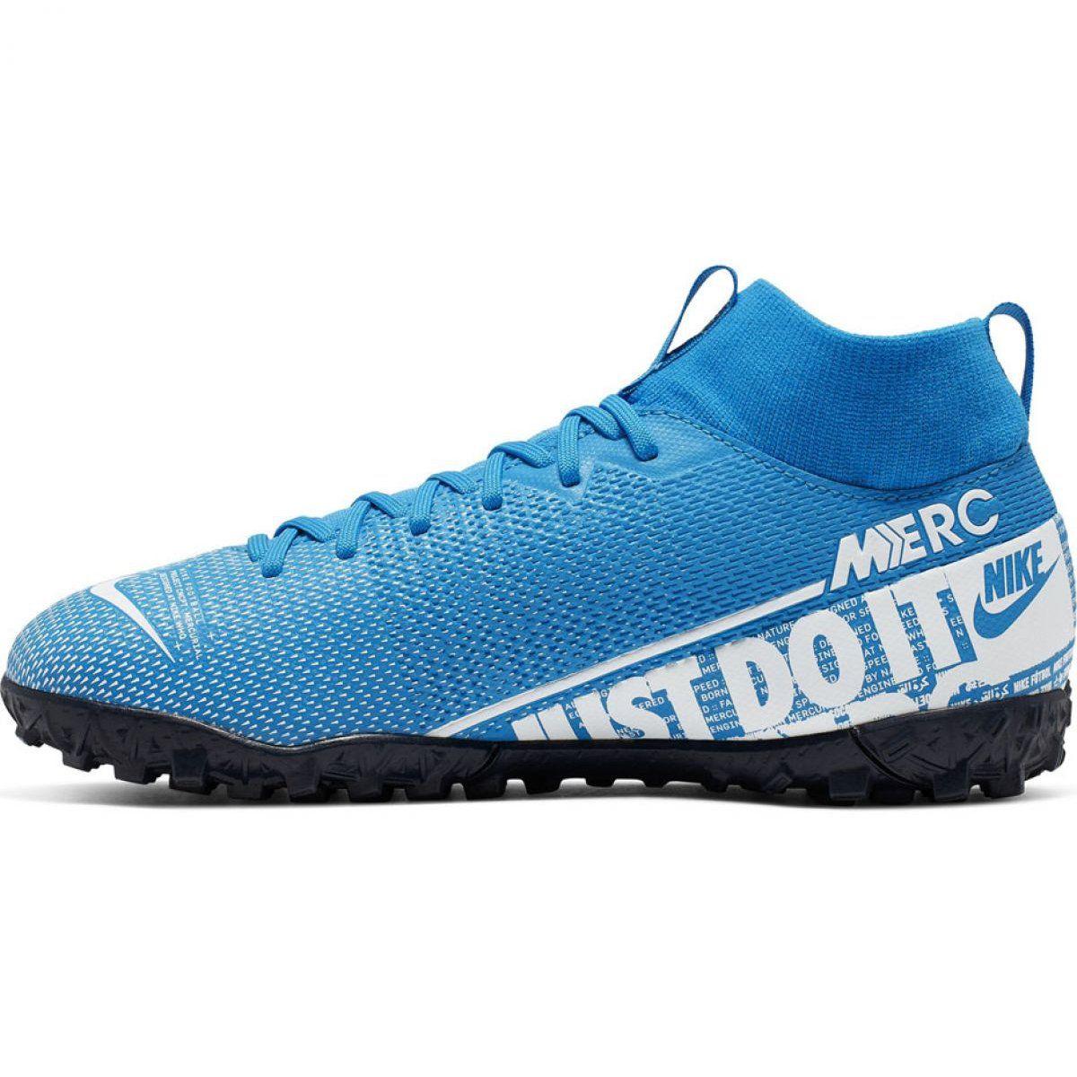 Buty Pilkarskie Nike Mercurial Superfly 7 Academy Tf Jr At8143 414 Niebieskie Wielokolorowe Football Shoes Kids Football Boots Nike