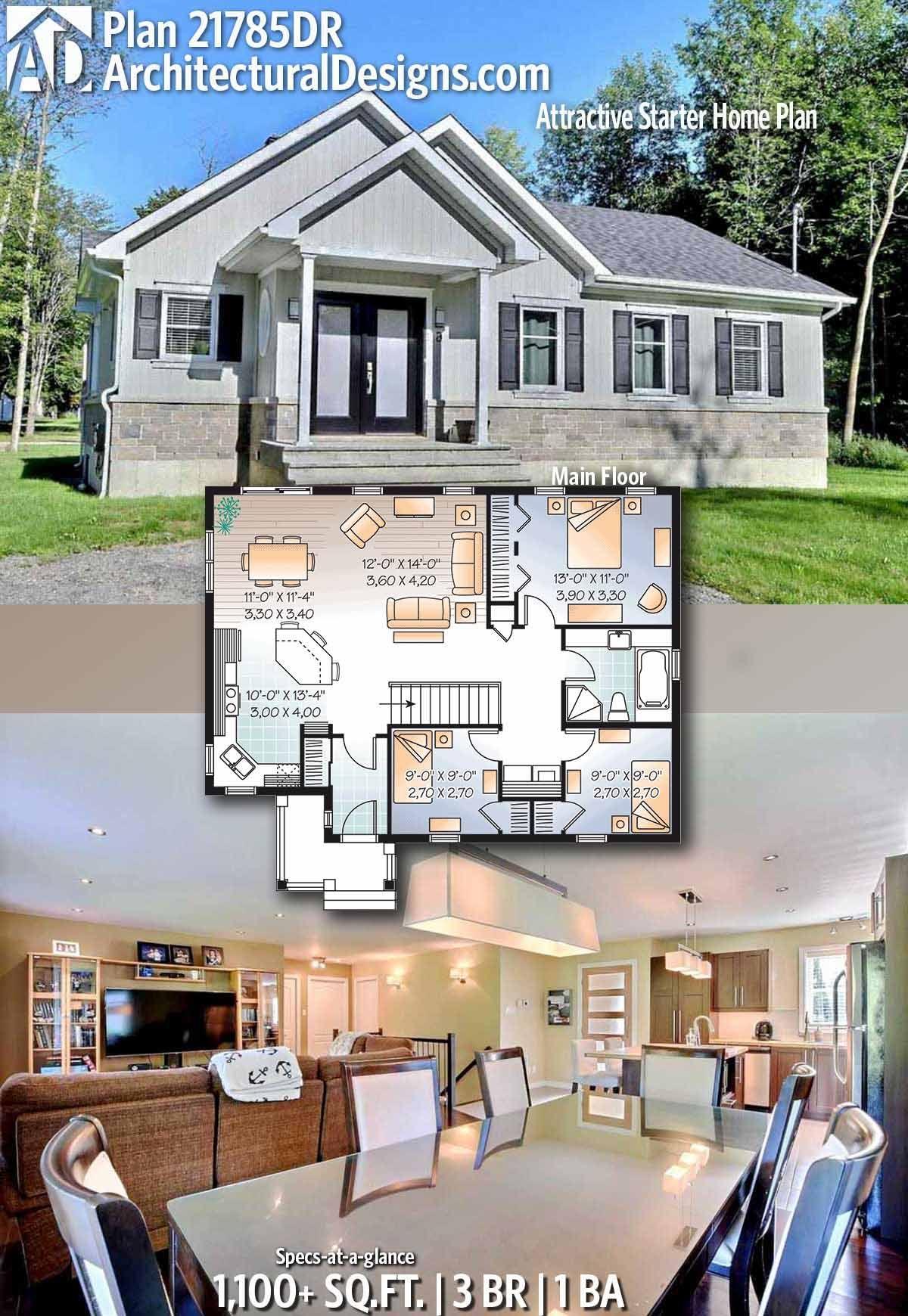 Plan dr attractive starter home plan arquitectura