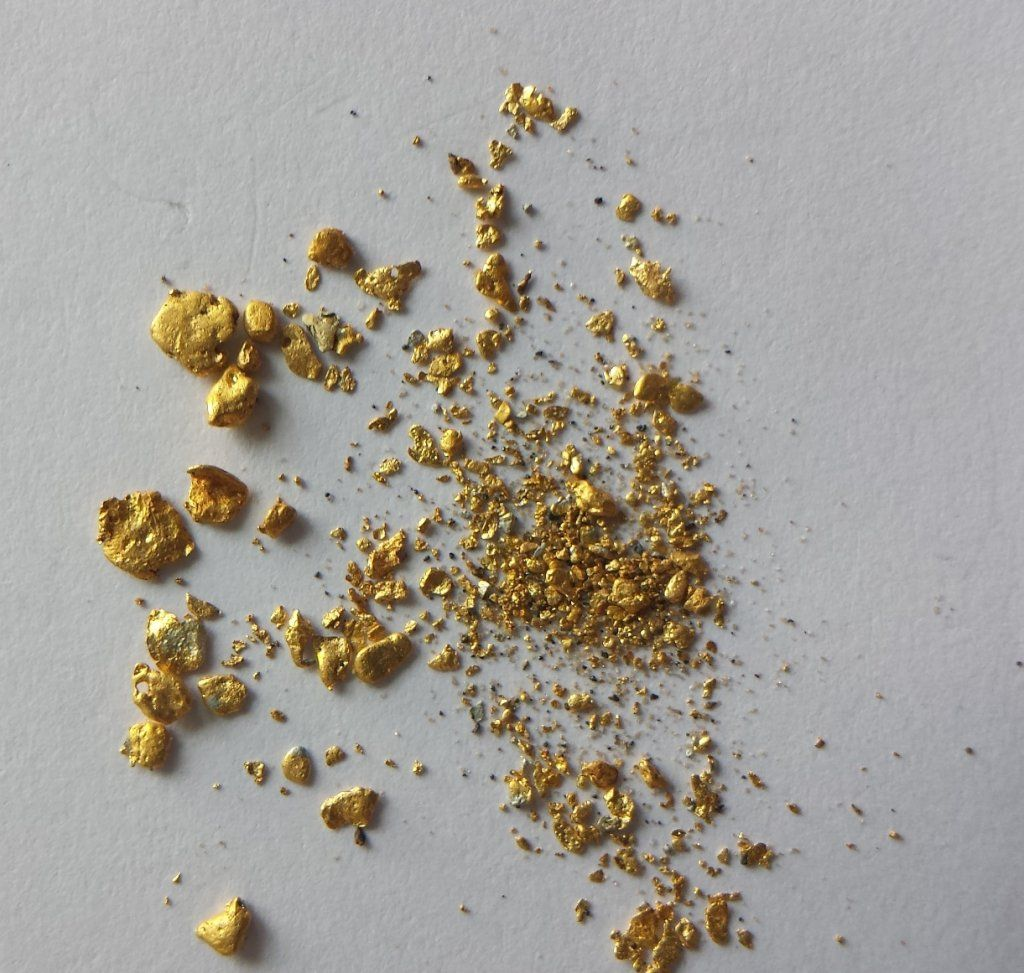 Alluvial gold from Creswick in west-central Victoria, Australia
