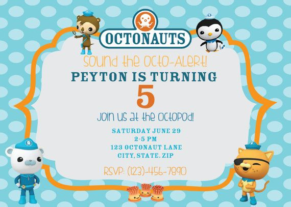 Octonauts Birthday Digital Printable Invitation And Thank You Card Octonauts Birthday Party Octonauts Birthday Swim Party Invitations
