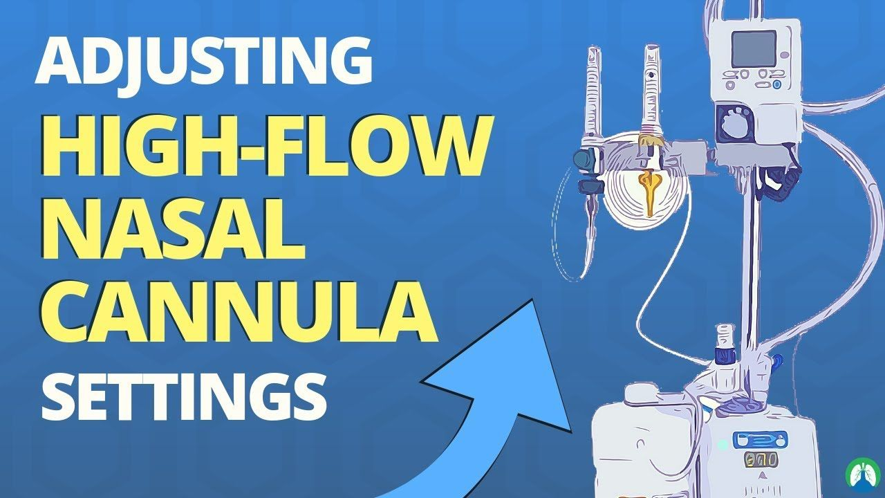 Adjusting high flow nasal cannula settings according to