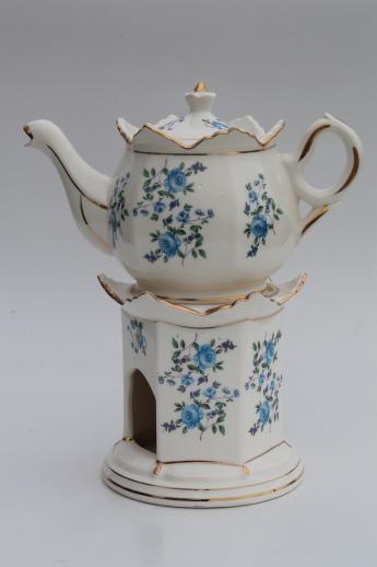 Tea Pots Pottery Pot China Teapot, China Teapot With Warmer