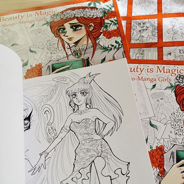 My copies of self-published coloring book \
