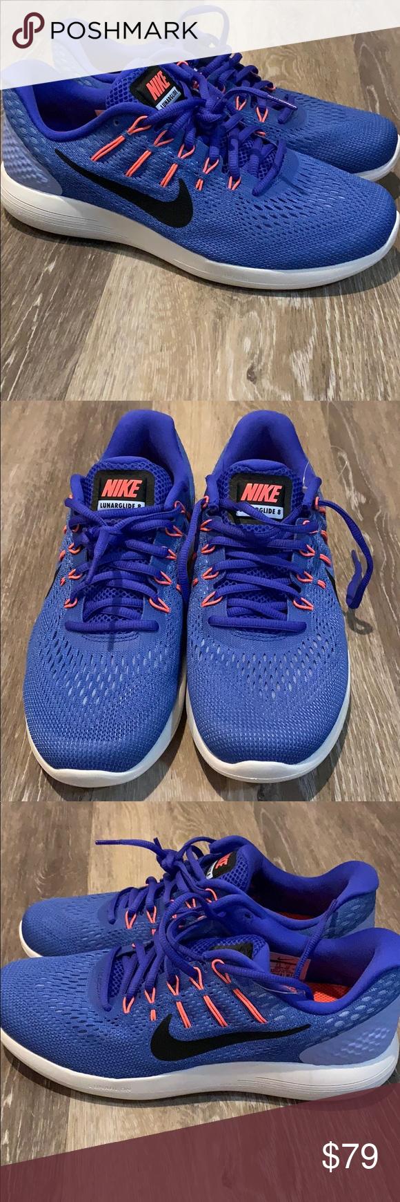 9d0d56ce4c52 NIke Lunarglide 8 Women s Running Shoe Sz 10 Blue NIke Lunarglide 8 Women s  Running Shoe Sz 10 Blue Black White AA8677-406 Never worn just missing  original ...