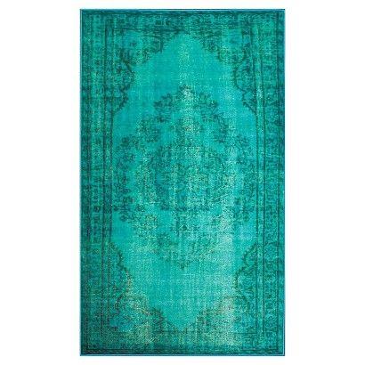 nuLOOM Vintage Inspired Overdyed Rug - Turquoise