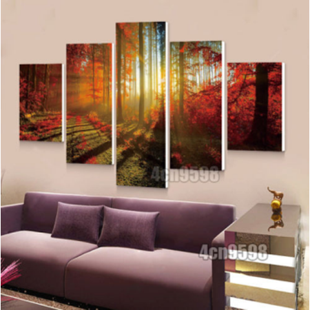 5pcs Modern Art Oil Landscape Painting Canvas Print Wall Art Picture Home Decor
