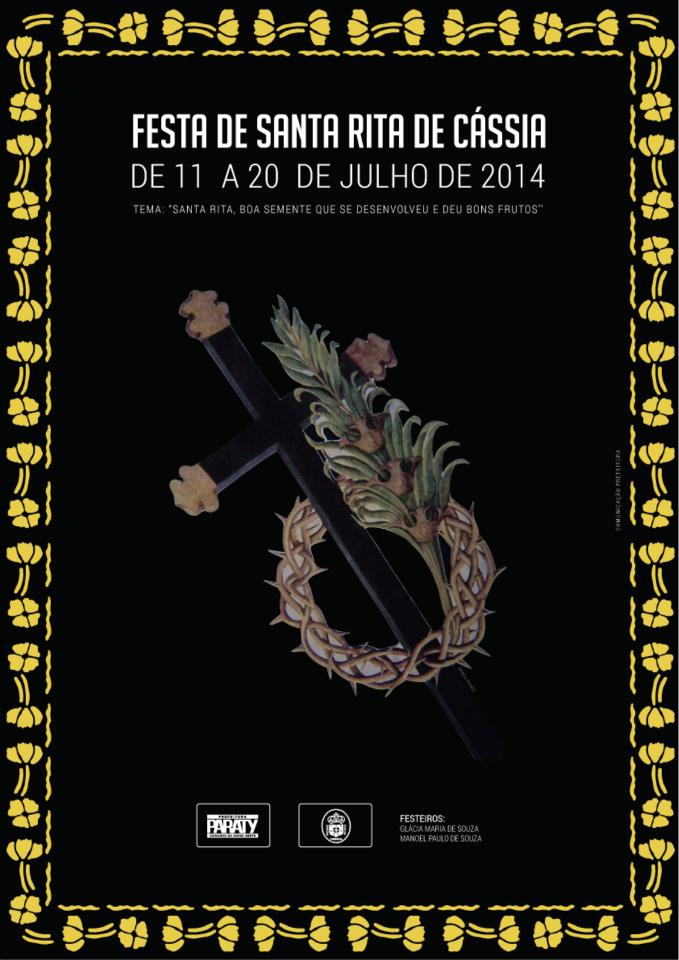 Evento religioso e cultural será promovido de 11 a 20/7  A tradicional Festa de Santa Rita de Cássia vai acontecer de 11 a 20 de julho. #PousadaDoCareca #Paraty #SantaRitaDeCássia #evento #cultura #turismo #procissão #missa