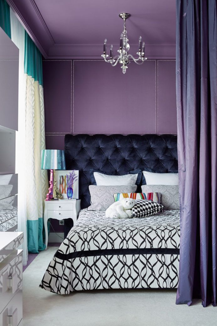 Color Go With Purple in 2020 Stylish bedroom, Colorful