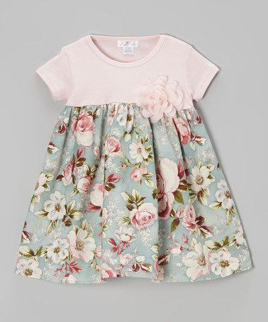 Loving this Pink & Blue Cottage Rose Dress - Infant on # ...