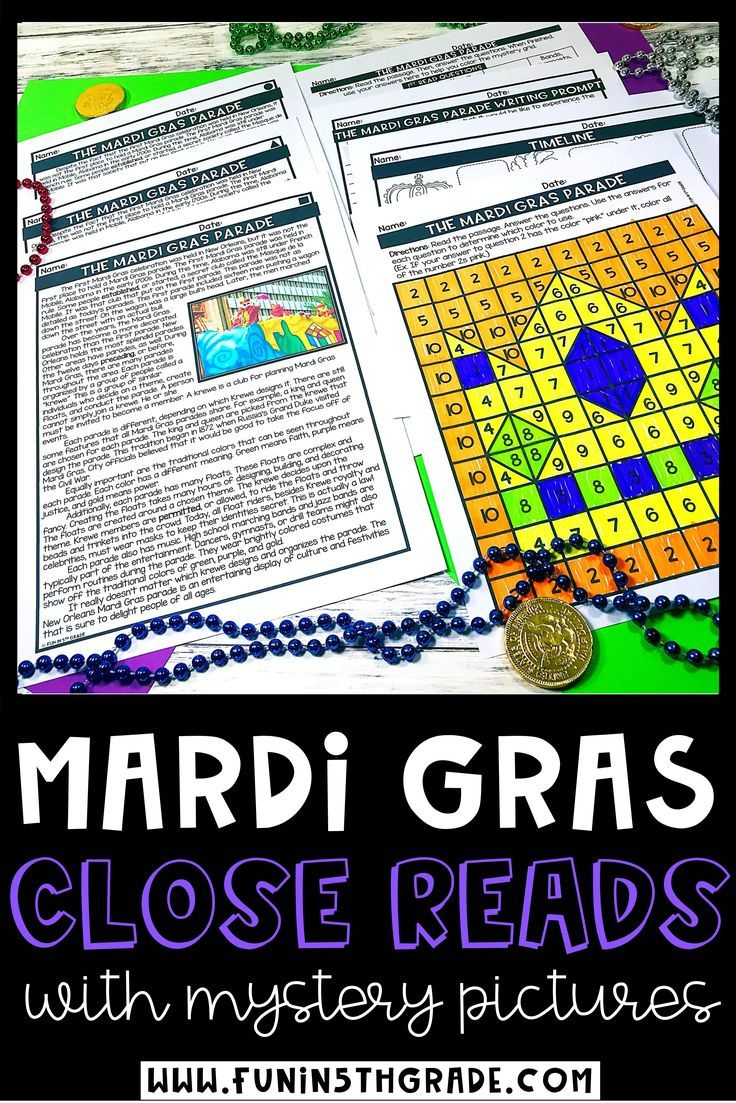 Mardi Gras Reading Comprehension Passages Mardi Gras