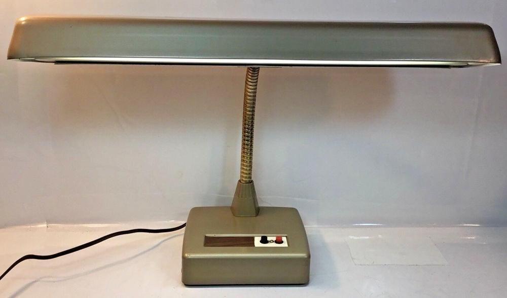Vintage Gooseneck Desk Lamp Retro Industrial Fluorescent Works Drafting Lamp Desk Lamp Retro Vintage Desk