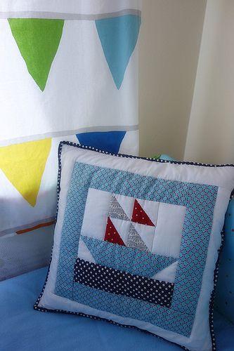 Little Ship cushion for Cayden