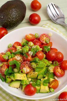 Schneller Avocadosalat - Katha-kocht! #chickenanddressing
