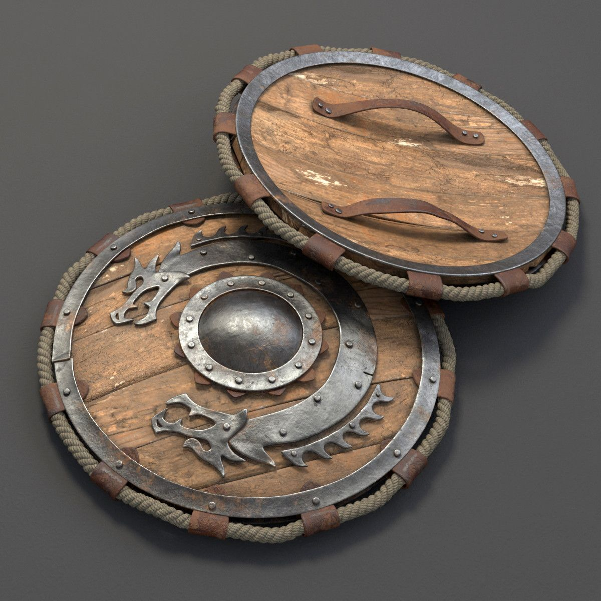 viking shield 3d max