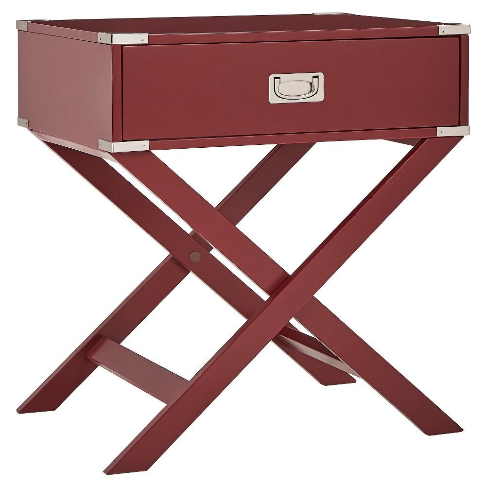 Küchenideen mit dunkelbraunen schränken borden campaign accent table merlot  inspire q raspberry wine