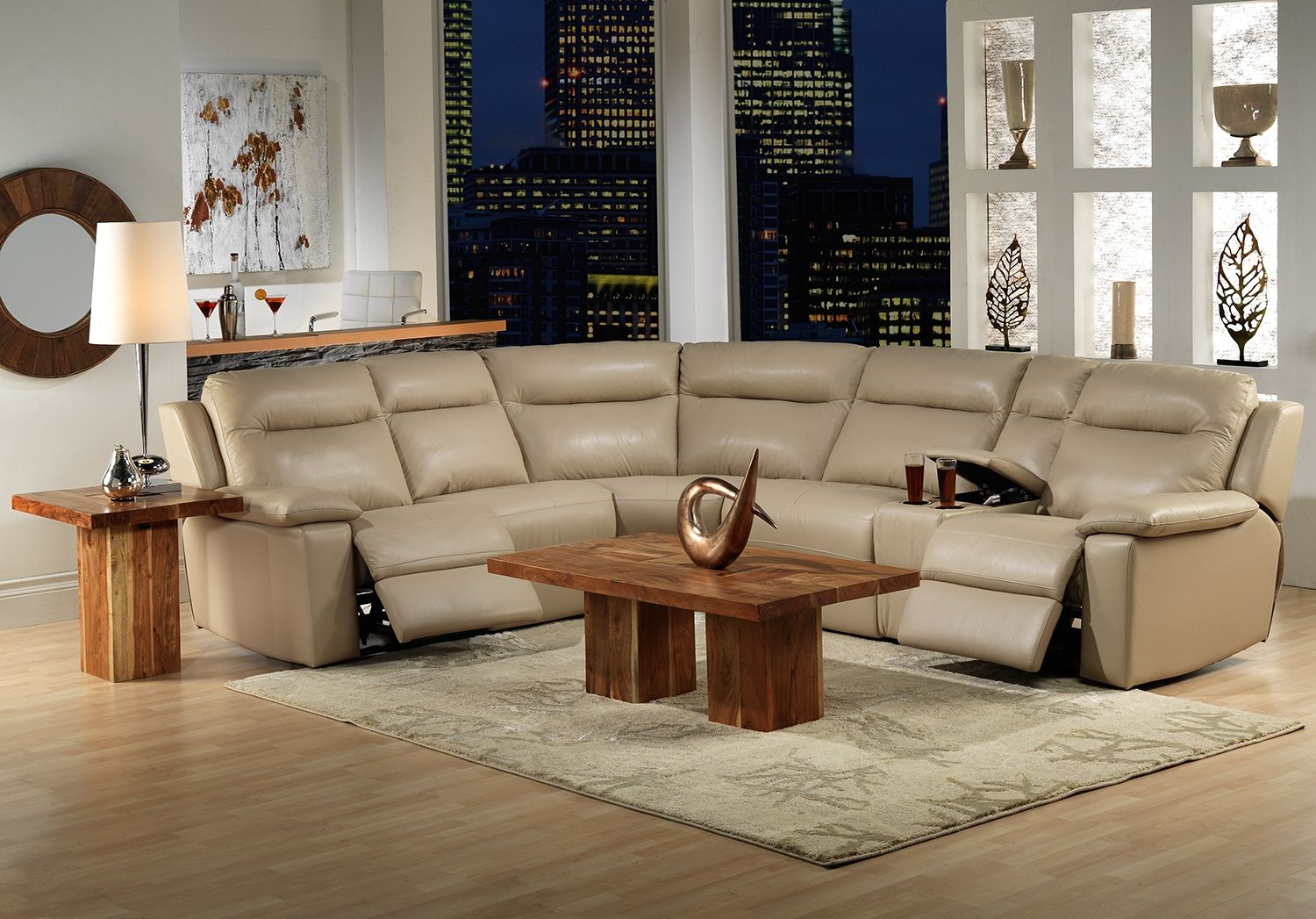 Denise Leather 5 Pc Sectional Leon S Decorating Ideas
