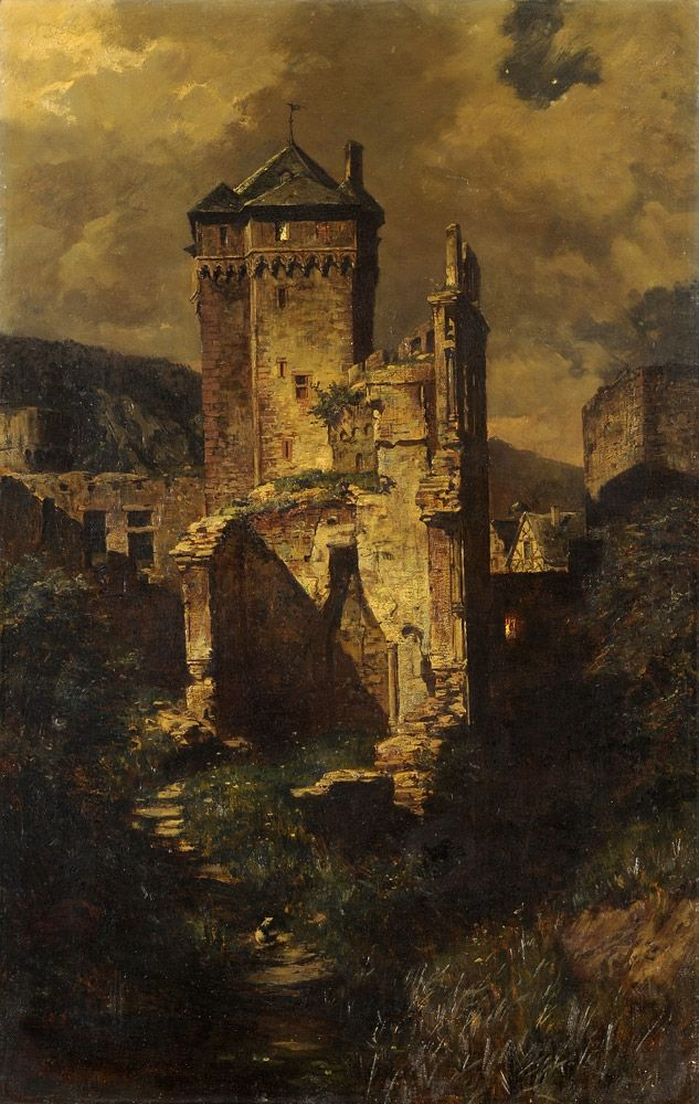 Medieval Castle Painting : medieval, castle, painting, Things, Beauty, Photo, Castle, Painting,