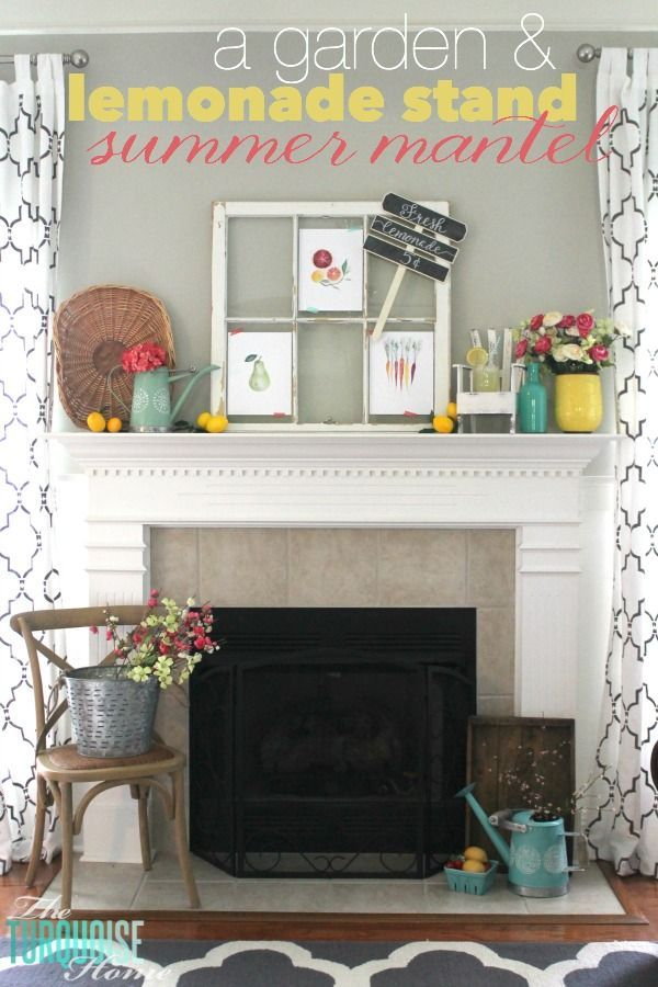 A Garden and Lemonade Stand Summer Mantel images