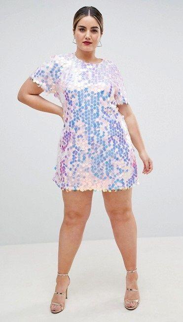 Plus Size Sequin T Shirt Dress Plus Size Fashion Pinterest