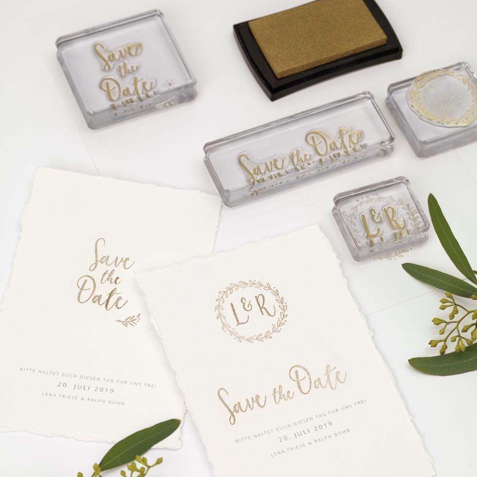 Papeterie Set Fur Stempeldesign Weddings
