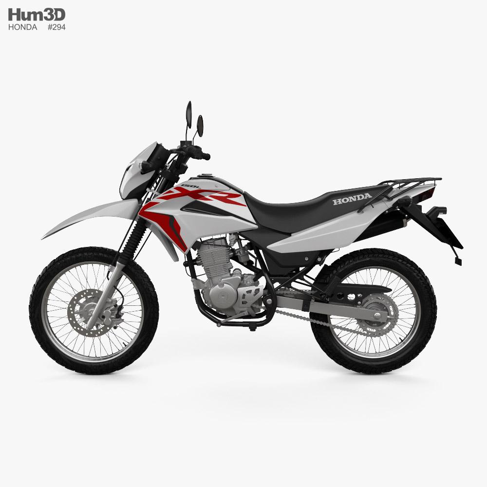 3d Model Of Honda Xr150 L 2020 In 2020 3d Model Honda Vehicles