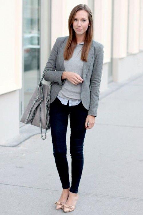6662122a67 25 Shades Of Grey Women Office Wear Ideas