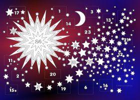 Hintergrund blau und rot (mit Bildern) Adventkalender