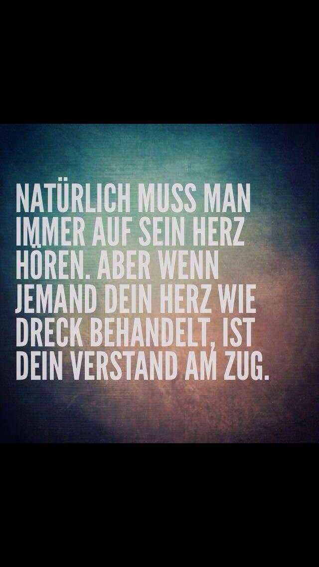 Verstand herz | Sprüche | Pinterest | True words, Feelings