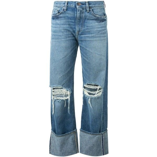 Simon Miller ripped boyfriend jeans (845 BRL) ❤ liked on Polyvore featuring jeans, pants, bottoms, denim, blue, blue boyfriend jeans, boyfriend fit jeans, boyfriend jeans, distressing jeans and destruction jeans