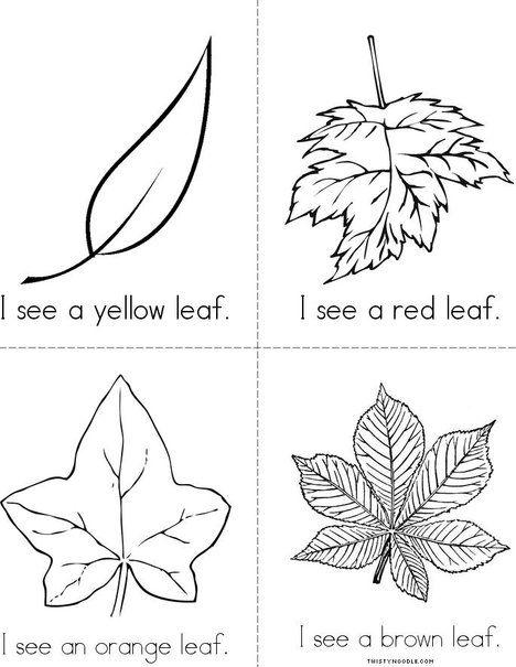 Fall Leaves Mini Book Leaf Book Mini Books Fall Mini
