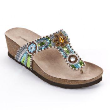 Croft Amp Barrow Wedge Footbed Sandals Women Kohls Shoes