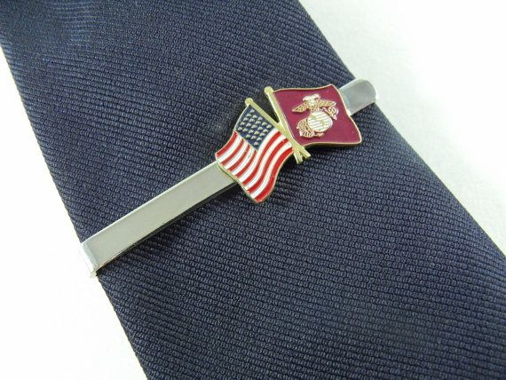 Tie bar tie clip united states marine corps crossed flags active tie bar tie clip united states marine corps crossed flags active duty reserve retired mens accessory ccuart Images